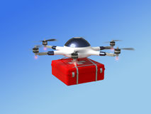 Red cross drone Royalty Free Stock Photo