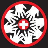 Red cross helping concept Royalty Free Stock Photography