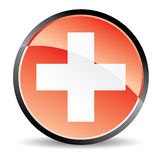 Red cross icon Royalty Free Stock Photography