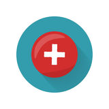 Red Cross Icon on Button. First Medical Aid Sign Royalty Free Stock Photo