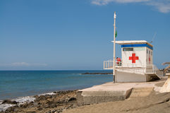 Red cross Lifeguard station Royalty Free Stock Photos