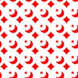 Red cross and moon seamless pattern Stock Photography
