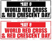 Red cross and red crescent day Stock Photography