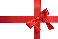 Red cross ribbon with bow Royalty Free Stock Images