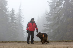 Red Cross search and rescue team Royalty Free Stock Images