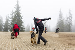 Red Cross search and rescue team Stock Images