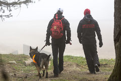 Red Cross search and rescue team Royalty Free Stock Photo