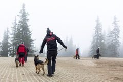 Red Cross search and rescue team Royalty Free Stock Photography