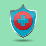 Red Cross Shield Symbol Icon Vector Royalty Free Stock Photography