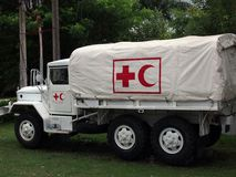 Red cross and sickle Royalty Free Stock Images