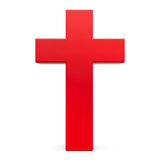 Red cross sign. On white background, three-dimensional rendering, 3D illustration Stock Image