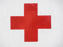 Red cross sign Royalty Free Stock Photo