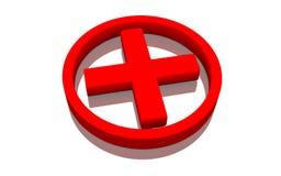 Red cross symbol royalty free illustration