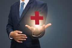 Red cross symbol Royalty Free Stock Images