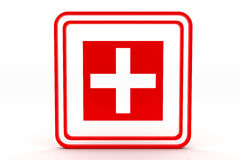 Red cross symbol Stock Image