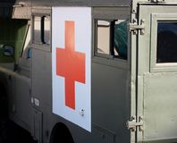 Red cross truck Royalty Free Stock Photos