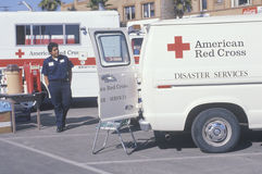 A Red Cross worker Royalty Free Stock Image