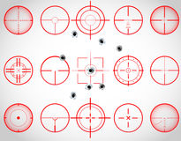 Red crosshairs Royalty Free Stock Photography