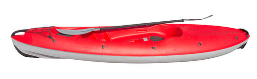 Red crossover kayak isolated royalty free stock image