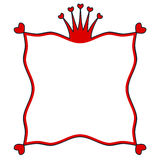 Red crown frame Stock Image