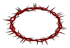 Red crown of thorns, Easter religious symbol of Christianity Stock Images