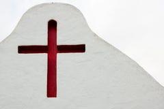 Red crucifix in Sancta Eularia Stock Image