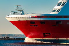 Red cruise liner Royalty Free Stock Image