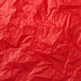 Red crumpled paper Stock Photography