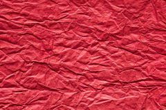 Red crumpled paper background Stock Photos