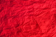 Red crumpled paper, can be used as background Royalty Free Stock Photos