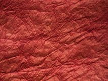 Red crumpled paper texture Stock Images
