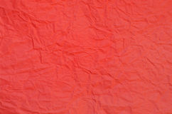 Red crumpled paper texture. Background of red crumpled paper Royalty Free Stock Images