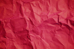 Red crumpled paper texture background. Royalty Free Stock Image