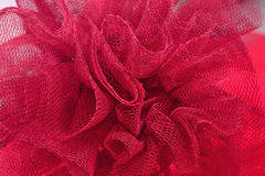 Red crumpled tulle close up Royalty Free Stock Photography