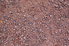 Red crushed gravel Royalty Free Stock Photos