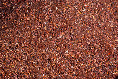 Red crushed gravel Royalty Free Stock Photography