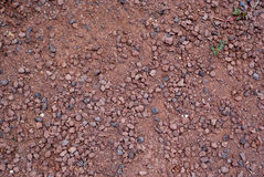 Red crushed gravel Stock Photography