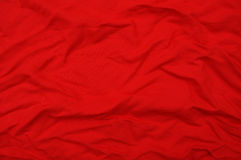 Red crushed silk Royalty Free Stock Images