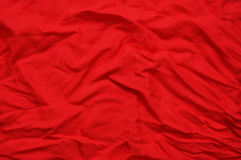 Red crushed silk Stock Photos
