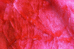 Red crushed velvet background Stock Photo