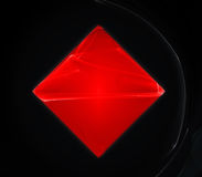 Red crystal stock photo