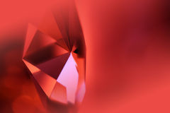 Red crystal. Abstract blurred background of an crystal prism in motion,space for text royalty free stock photos