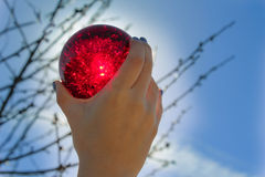 Red Crystal Ball Royalty Free Stock Image