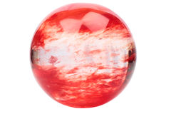 Red crystal ball Stock Image