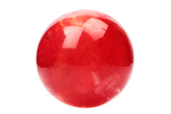 Red crystal ball. Isolated on white background Stock Photo