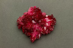 Red crystal on black Stock Photography