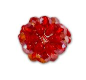 Red crystal cluster ring Royalty Free Stock Photography