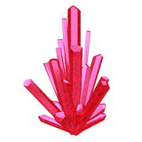Red crystal - 3D render Royalty Free Stock Images
