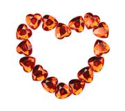 Red crystal heart Stock Photography