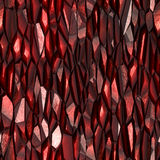 Red crystal rock. Red shiny rock in layers Royalty Free Stock Image